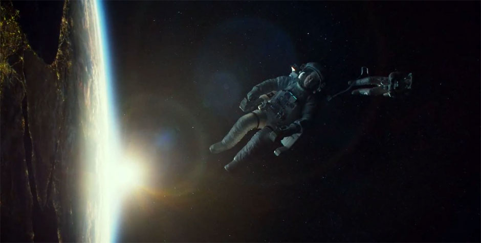 Amazing 3D look on Earth in the Gravity movie
