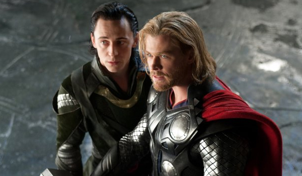 Thor and his brother Loki in the Dark World