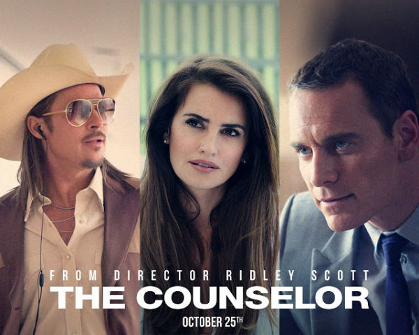 Brad Pitt and Penelope Cruz in the Counselor movie - love on the stage?