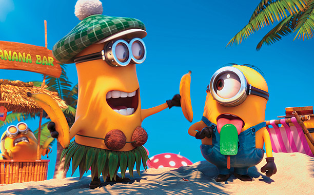 Funny minions showed in the Despicable Me 2