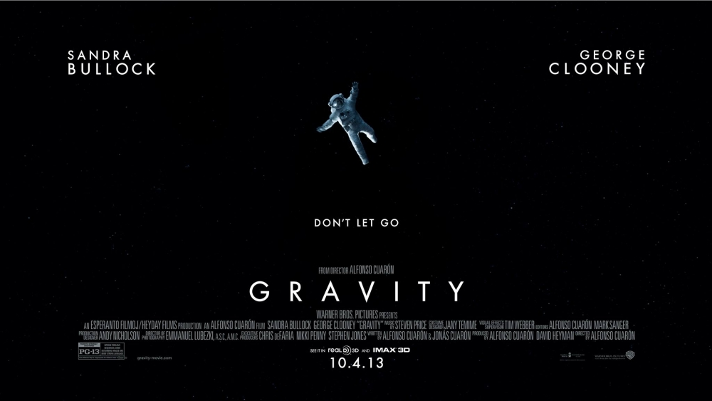 One of the posters of the Gravity movie