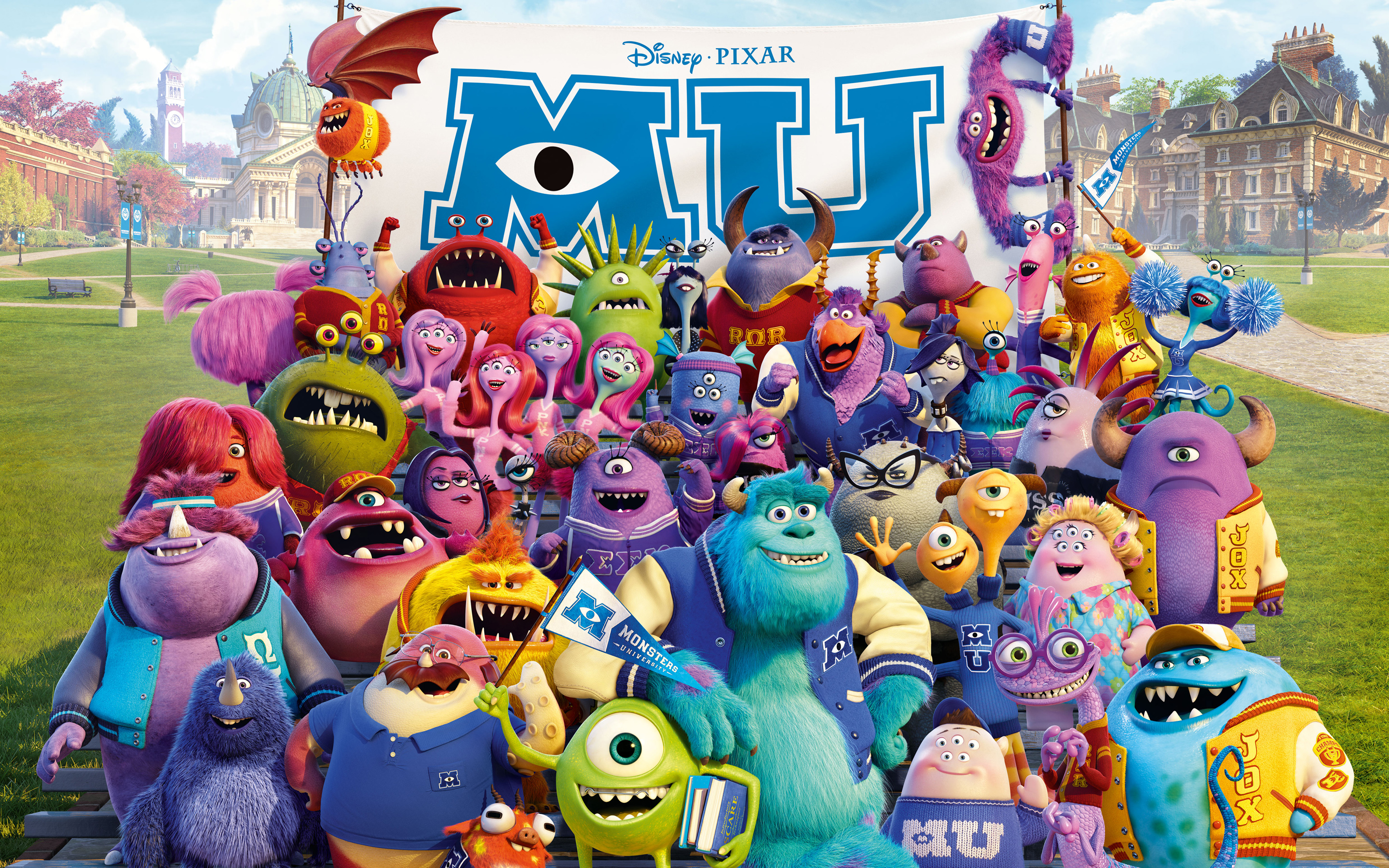 High quality graphics in Monsters University