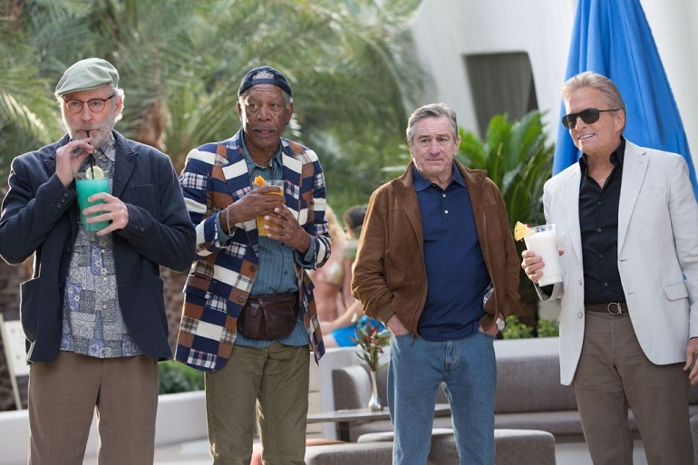 All the heroes of Last Vegas movie together