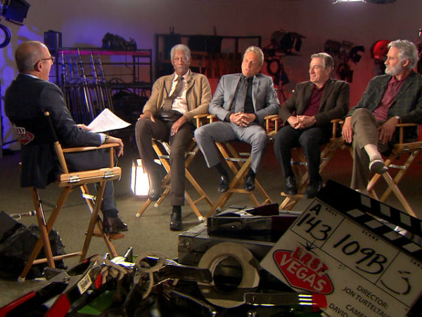 Talking in the footage of the Last Vegas