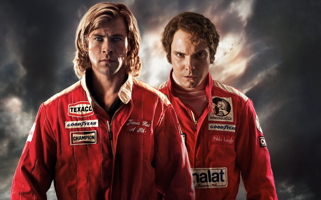 Two racers in the Rush movie