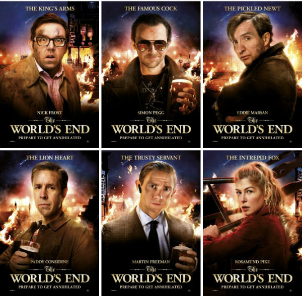 All the cast of the World's End