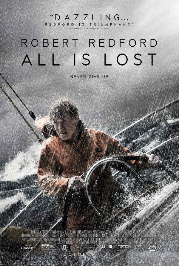 Great poster of All is Lost 2013 movie