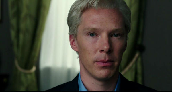 Cumberbatch trying to look like Assange