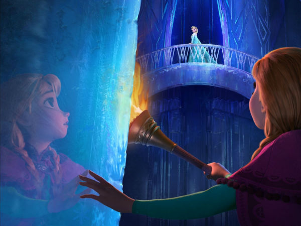 Kingdom of ice and cold in Frozen movie