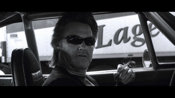 Cool and modern black and white picture of Kurt Russell
