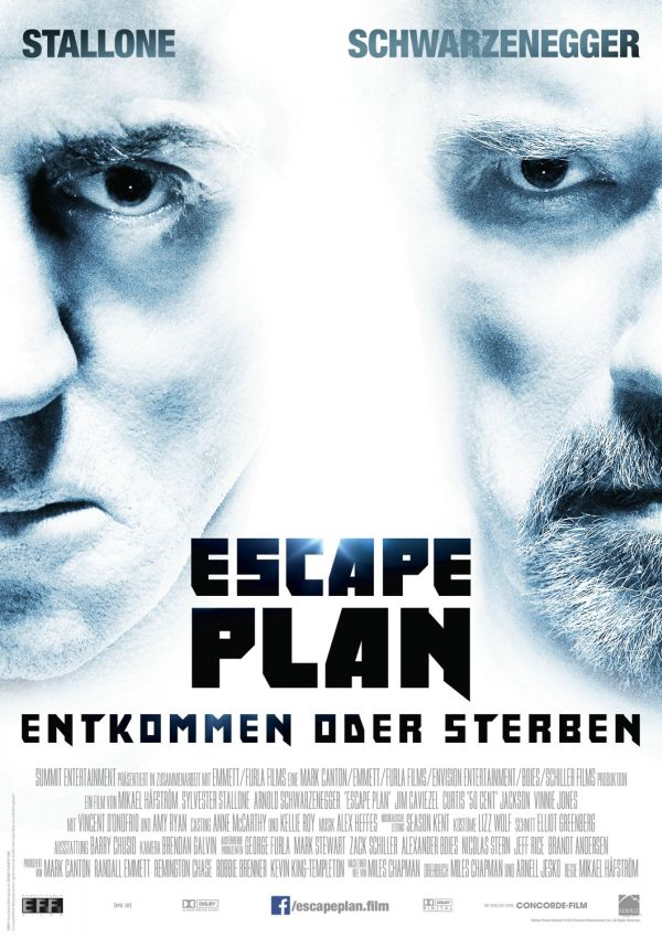 New deutsch poster for Escape Plan 2013 movie