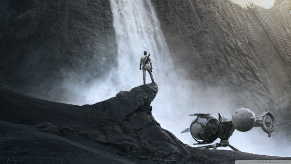 Waterfall on Earth from Oblivion movie