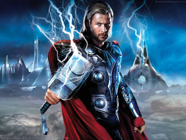 Thor and his favorite weapon - a lightning