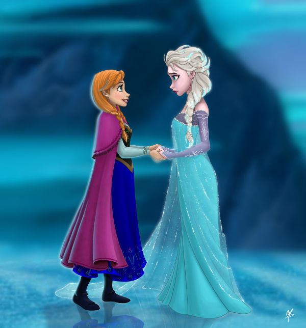 Stylish art of Disney's cartoon Frozen 2013