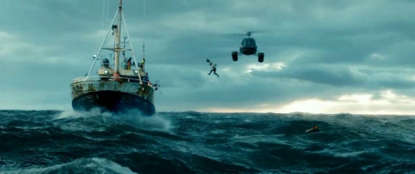 How about some flying from helicopter over the open sea?