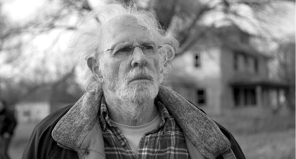 Bruce Dern looking hopefully in the future
