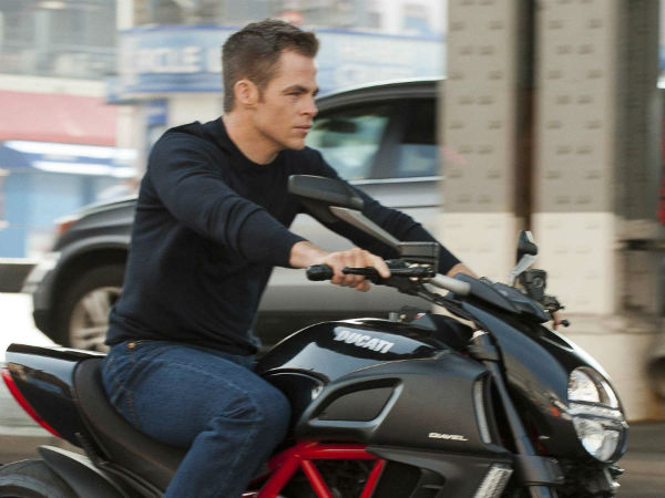 Jack Ryan riding his motorbike and looking awesome