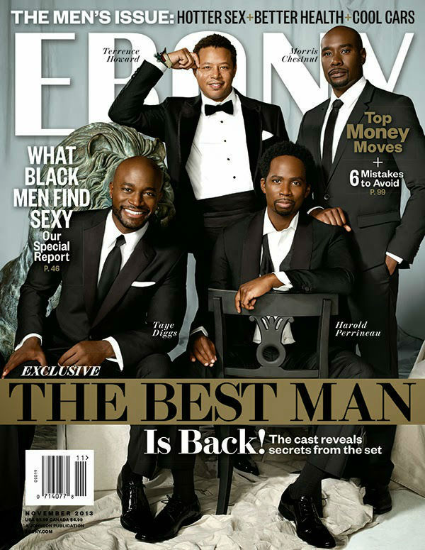 Ebony Magazine with the actors of The Best Man 2 2013 movie